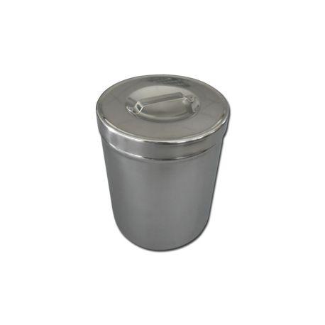 GIMA S/S DRESSING JAR 2 L WITH LID - DIAM.127x162 MM