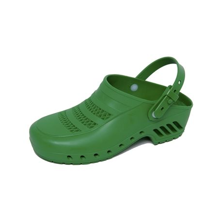 GIMA  CLOGS - WITH PORES AND STRAPS - VERDE - DIFFERENT SIZES