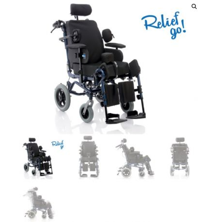 MORETTI MULTIFUNCTIONAL CHAIR - WITH 30CM REAR WHEELS - RELIEF GO SERIES (ARDEA ONE)