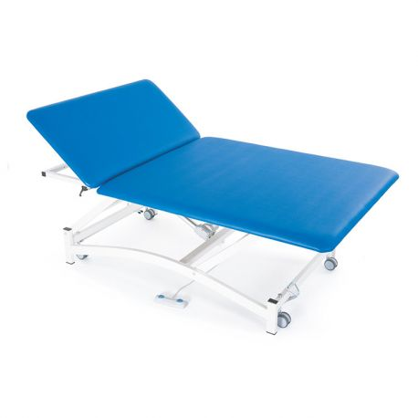 FISIOTECH TWO-SECTION ELECTRIC BED WITH MANUAL HEAD ADJUSTMENT BOBATHXS2-DIFFERENT COLORS