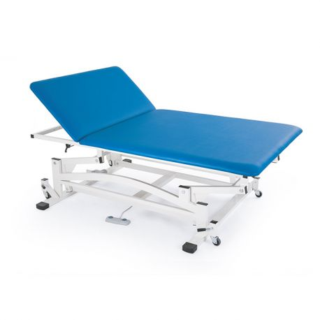 FISIOTECH TWO-SECTION ELECTRIC BED WITH MANUAL HEAD ADJUSTMENT BOBATHM2-DIFFERENT COLORS