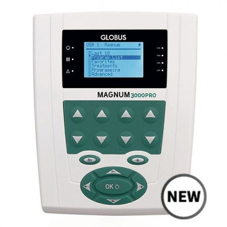 GLOBUS MAGNUM 3000 PRO FOR MAGNETOTHERAPY WITH TWO FLEXIBLE SOLENOIDS