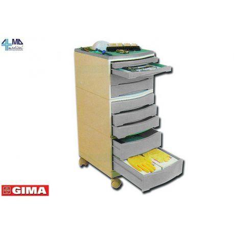 GIMA CARRO CON CAJÓNES - DOCTOR - GRIS CON 9 CAJONES - 38X30X72CM