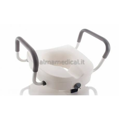 MORETTI RAISING TOILET SEAT WITH CENTRAL LOCK AND ARMRESTS - H 13 CM