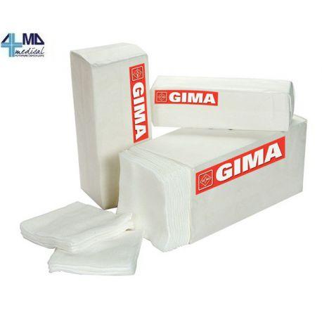 GIMA COMPRESA DE GASA DE ALGODÓN DE 16 CAPAS Y 10 X 10 CM (100 UDS)