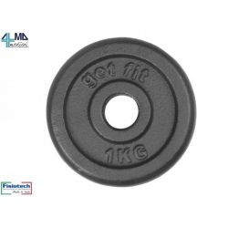 FISIOTECH CAST IRON WEIGHTS WITH HOLE DIAM.25-1KG