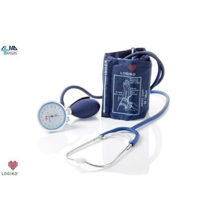 MORETTI MANUAL LARGE ANEROID TENSIOMETER WITH BUILT-IN STETHOSCOPE