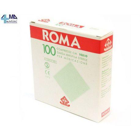 SALVADORI COMPRESAS DE GASA DE ALGODÓN ESTÉRILES ROMA - 10 X 10 CM - (100 UDS.)