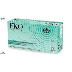 GARDENING GUANTES DE LÁTEX CON POLVO EKO PLUS 5,7GR (10X100 UDS)