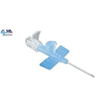 DELTAMED ONE-WAY CANNULA NEEDLE - WITH FINS - SIZES 18G-20G-22G (50 PCS)