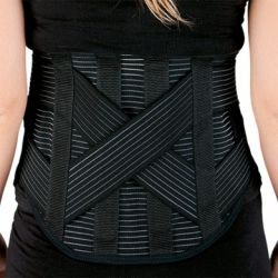 INTERMED LUMBAR CORSET WITH REAR SEALS AND MOLDABLE STRIPS - VARIOUS SIZES