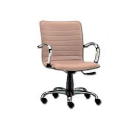 GIMA ELITE LOW-BACKED CHAIR - LEATHERETTE - BEIGE