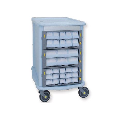 GIMA DOUBLE FACE PHARMACY TROLLEY - 60 SMALL DRAWERS