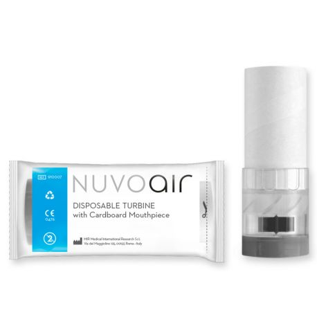 DISPOSABLE TURBINE WITH INTEGRATED MOUTHPIECE FOR NUVOAIR NEXT SPIROMETER (60 PCS)
