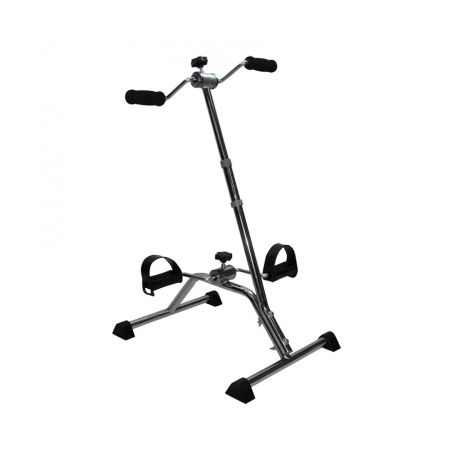 INTERMED CHROME STEEL PEDAL STAND WITH ROD AND ROTATING HANDLES