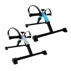 INTERMED FOLDING PEDAL RACK IN PAINTED STEEL - WHITE AND BLUE