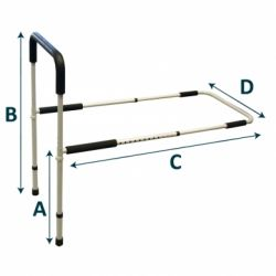 INTERMED SINGLE BED RAIL WITH ADJUSTABLE LEGS