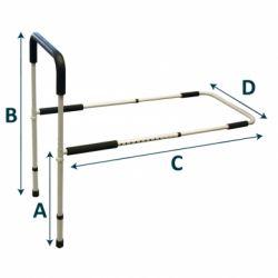 INTERMED SINGLE BED RAIL WITH ADJUSTABLE LEGS