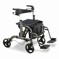 INTERMED ROLLATOR WALKER WITH FOLDING ALUMINUM STRUCTURE WITH FOUR WHEELS (ANKARA)