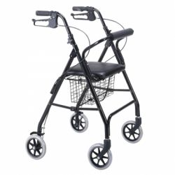INTERMED WALKER ROLLATOR - FOLDING ALUMINUM STRUCTURE - FOUR WHEELS (MONTREAL)
