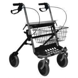 INTERMED FOLDING STEEL WALKER - WITH 2 WHEELS AND 2 STRUTS (ROME)