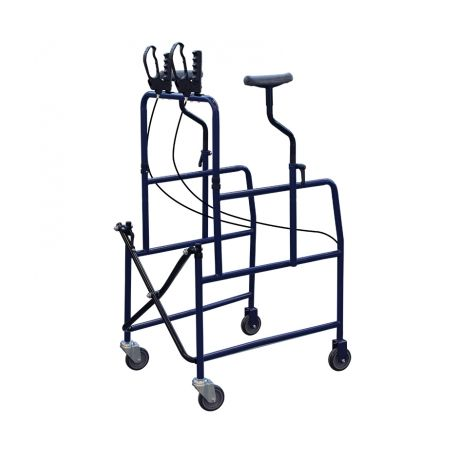 INTERMED AXILLARY AMBULATOR - PAINTED STEEL - 4 WHEELS - WITH LEVER BRAKES (AD-65)