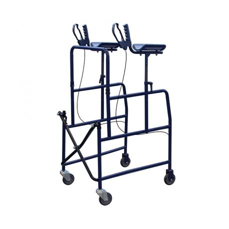 INTERMED AXILLARY WALKER WITH BRACHIAL SUPPORTS AND LEVER BRAKES (AD-66)
