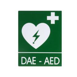 GIMA DAE-AED ALUMINIUM SIGN 25 X 31 CM FOR DEFIBRILLATORS