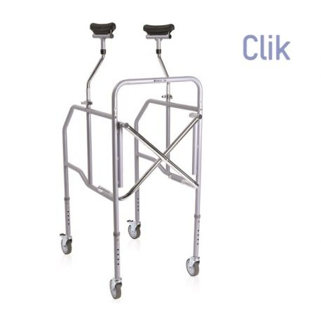 MORETTI FOLDING WALKWAY WITH AXILLARY SUPPORT IN PAINTED STEEL - HEIGHT ADJUSTABLE LEGS