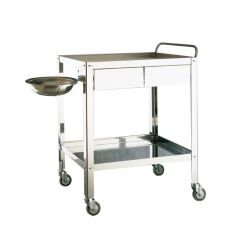 MORETTI TROLLEY FOR MEDICATION 2 DRAWERS CM70X50X85H