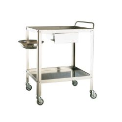 MORETTI MEDICATION TROLLEY 1 DRAWER CM70X50X85H