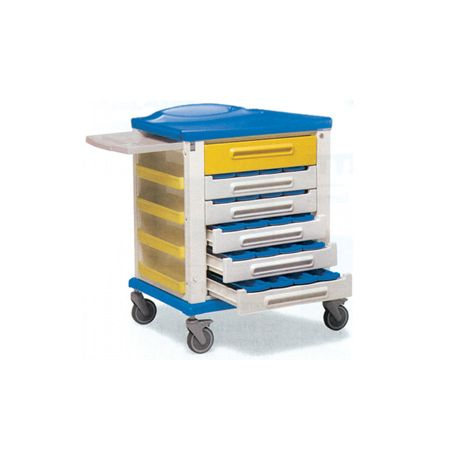 GIMA PHARMACY TROLLEY - STANDARD 20 PARTITIONS