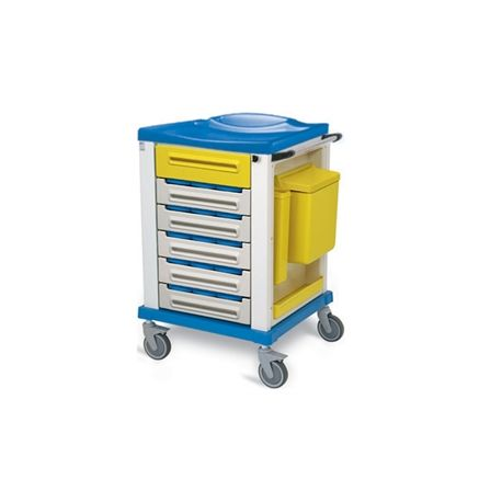 GIMA PHARMACY TROLLEY - SMALL - 15 PARTITIONS