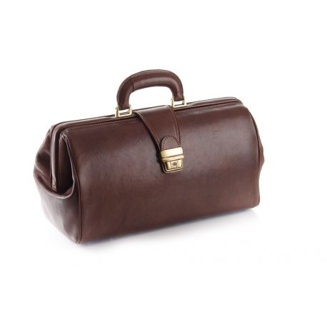 MORETTI LEATHER CASE FOR DOCTORS - COMPACT MODEL - BLACK