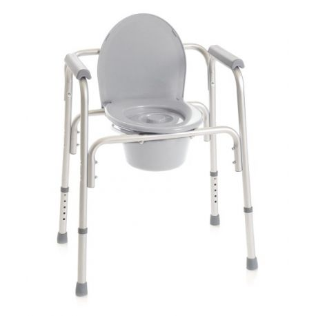MORETTI TOILET CHAIR 4 FUNCTIONS IN ONE - FIXED - 4 TIPS