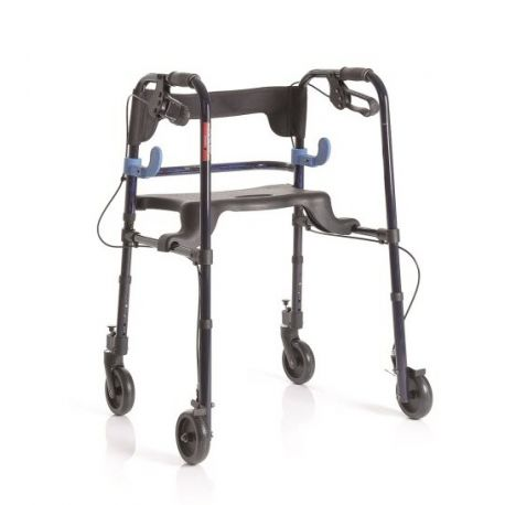 MORETTI FOLDING ROLLATOR IN PAINTED ALUMINUM WITH 2 LEVERS