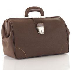 MORETTI MEDICAL CASE IN SYNTHETIC LEATHER MEDIUM - DARK BROWN COLOR