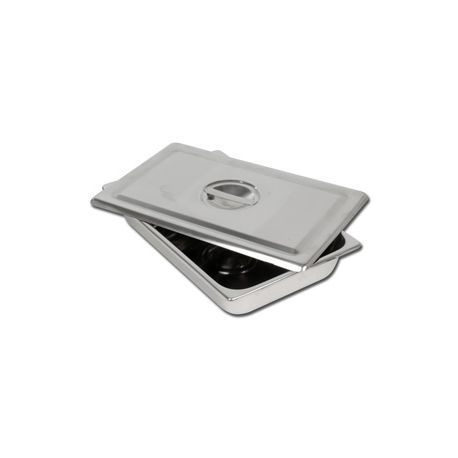 GIMA S/S INSTRUMENTS TRAY WITH LID - DIFFERENT DIMENSIONS