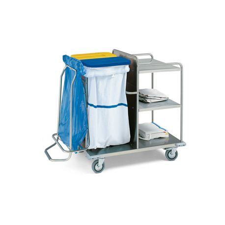 GIMA  LAUNDRY TROLLEY - STAINLESS STEEL