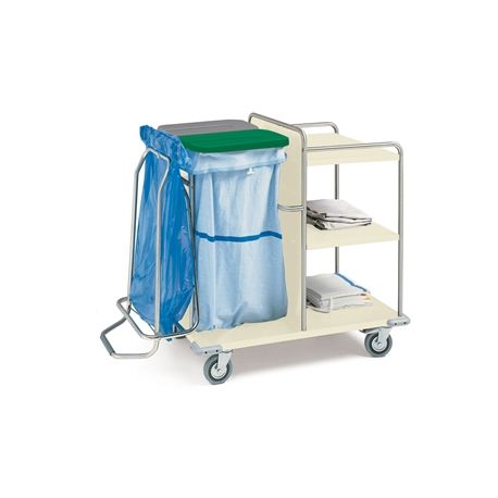 GIMA LAUNDRY TROLLEY - PAINTED STEEL