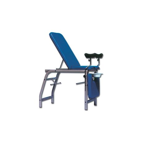 GIMA 3-SECTION GYNAECOLOGICAL BED - BLUE