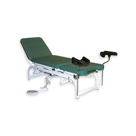GIMA HEIGHT ADJUSTABLE GYNAECOLOGICAL BED - GREEN
