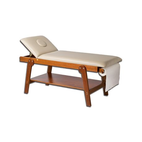 GIMA FIRENZE WOODEN COUCH WITH FACE HOLE - CHERRY WOOD