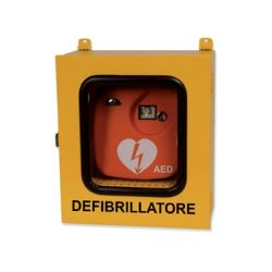 GIMA CABINET WITH THERMO AND ALARM FOR DEFIBRILLATORS - OUTDOORS USE - YELLOW
