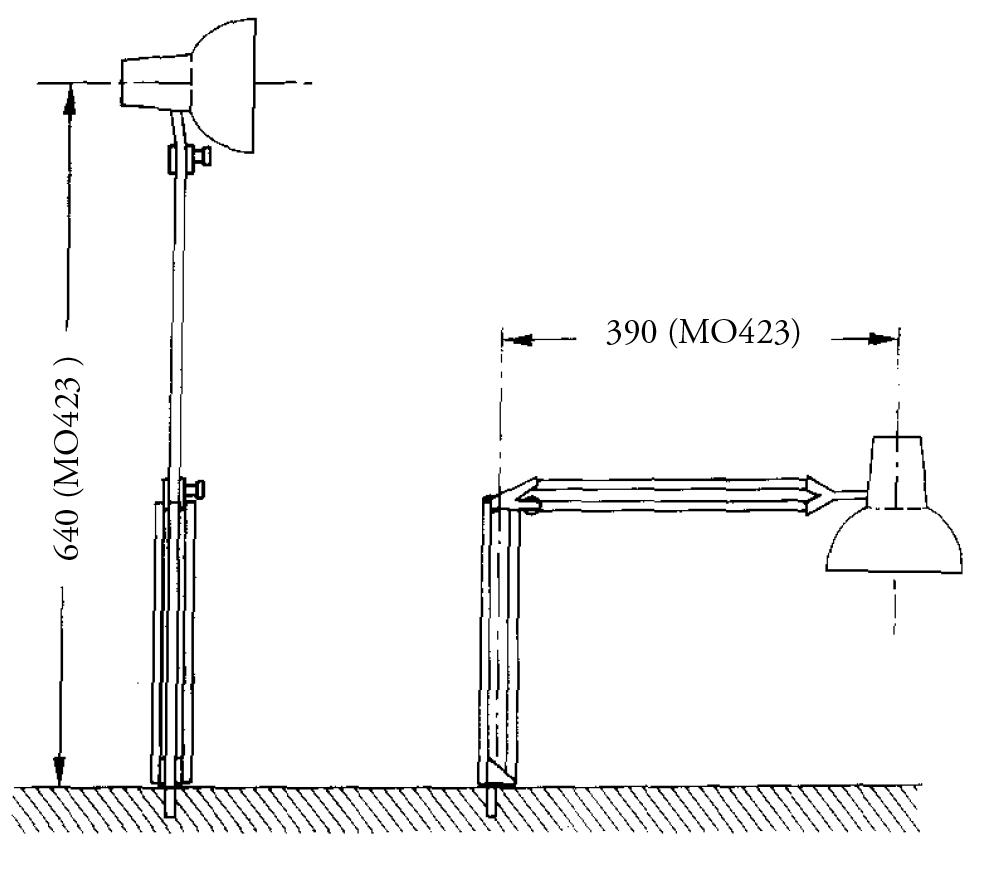 Lámpara halógena luz - con base de mesa